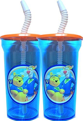 (zak Winnie the Pooh klar Tumbler Wasser Flasche mit Trinkhalm Set von 2)