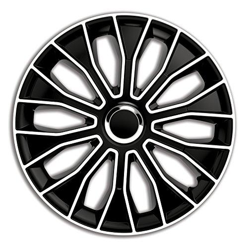4er Set Radkappen Radzierblenden Radabdeckungen Modell Voltec Pro Schwarz&Weiss 14 Zoll