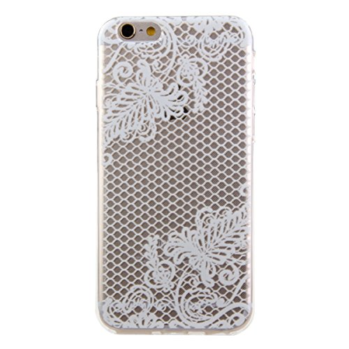 iPhone 6S Hülle, iPhone 6 Hülle, iPhone 6 / 6S Silikon Crystal Case Hülle mit Malerei Muster, SainCat Weiche Transparent Silikon Schutzhülle Hülle Gel Bumper Soft TPU Case Backcase Weiches Crystal Cle Plaid
