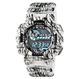 Best Digital Wristwatches - Time Warp Shredded White Multi Function Digital Chameleon Review