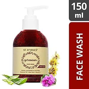 ST. D'VENCÉ Egyptian Geranium Oil and Witch Hazel Face Wash, 150ml