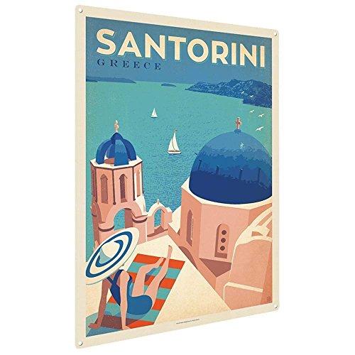 Eugene49Mor griechisches Santorini, 22,9 x 30,5 cm, Metall, Dekoration für Büro, Kinderzimmer,...