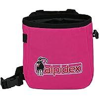 ALPIDEX Bolsa de Magnesia Chalk TO ME con cinturón Incluido, Color:Pink Power