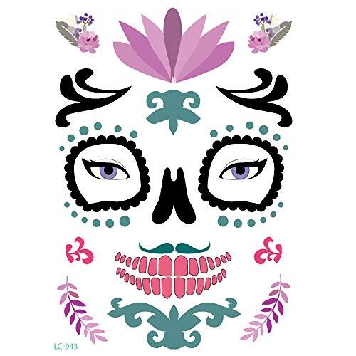 Sayla Gesicht Aufkleber Tattoo Festival Glitzer Gesicht Glitzersteine zum Aufkleben Strasssteine Selbstklebend Strass Tattoo Festival Rave Halloween Sticker -
