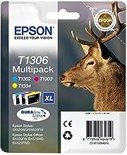 Epson T130 Serie Cervo, Cartuccia Originale Getto d'Inchiostro DURABrite Ultra, Formato XL, Multipack 3 Colori, con Amazon Dash Replenishment Ready