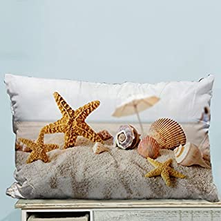 headgooditem Advanced Technology Printed Popular Star Fish Sea Shell Beach Custom Zippered Pillow Cases 20x30 inches(Two Sides)