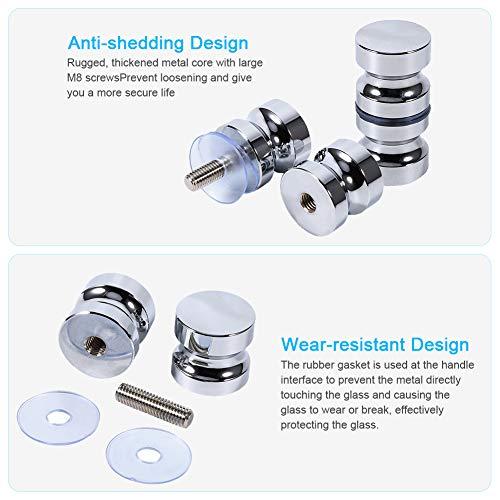 5186bRvYmLL - Tirador para puerta de muebles Manija de puerta de la aleación de aluminio para el gabinete de la ducha del cuarto de baño del botón de cristal solo
