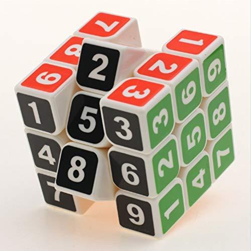 Einfache Kostüm Zauberwürfel - Transparent Zauberwürfel,3x3 Speed Cube,Magic Cube,3D Puzzles Kombinationsübungen Druckminderer Intelligenz IQ Geschenk Kind Kindergeburtstag, White