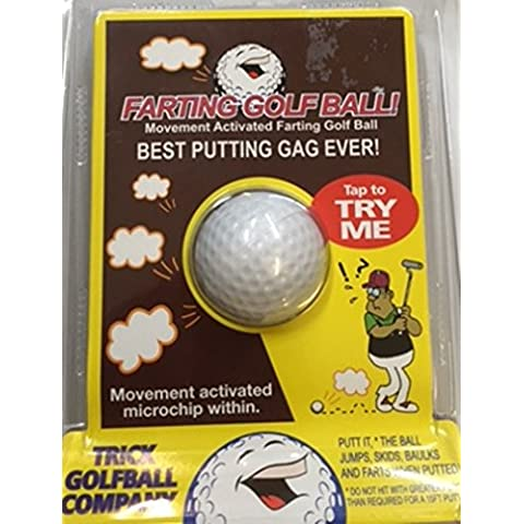Trick Golf Ball Co. Joke Farting Golf Ball Novelty Gag Gift by Trick Golf Ball Co.