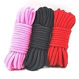 10M Cotton B-ôňd-àgé Rope B`DṤM B-ôňd-àgé Ré-s-tràÏňts Rope Fetish Ṥ-ê-x Toys for Couples Erotic Toys Game Ṥ-ê-x B-ôňd-àgé Set Red