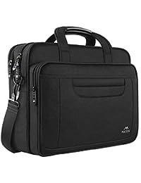 MATEIN Laptop Bag, 15.6 inch Business Computer Laptop Case, Unisex Spacious Laptop Sleeve Shoulder Messenger Bag for Women and Men, Universal Nylon Briefcase Bag for Computer/Notebook-Black Grey