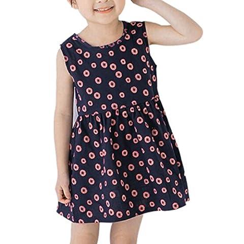 AMUSTER.DAN, Ein Stück Ärmelloser Sommer Tutu A-Line weich schön elegant Kleid zum Baby Mädchen