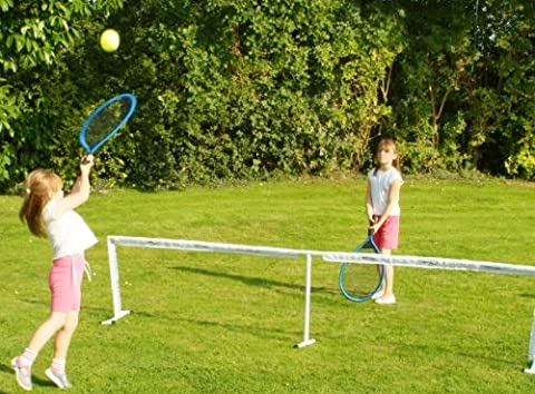 Traditional Garden Games - Filet de tennis Jumbo avec raquettes et balle