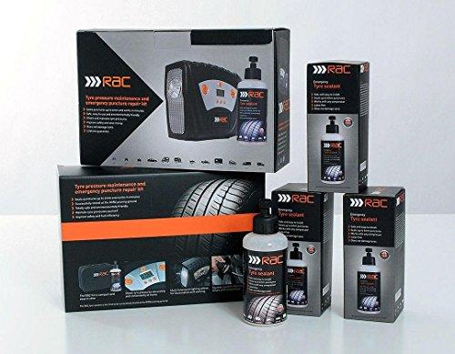 RAC RACKIT Tyre Maintenance and Puncture Repair Kit - Black