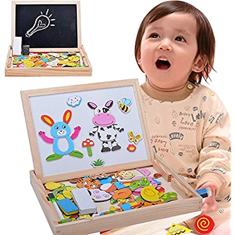 Minetom Bebé Juguete Educativos Magnético Caballete Niños De Madera Pizarra Blanca Para Niños