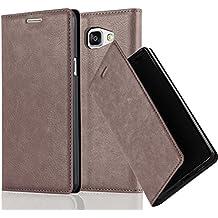 Cadorabo - Etui Housse pour Samsung Galaxy A5 (6) (Modèle 2016) avec Fermeture Magnétique Invisible (stand horizontale et fentes pour cartes) - Coque Case Cover Bumper Portefeuille en MARRON-CAFÉ