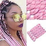 Extensions de cheveux synthétiques Xpression Kanekalon 60 cm 5 pièces Rose