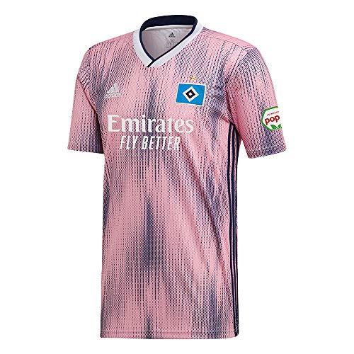 adidas Herren Hamburger SV 19/20 Auswärts Fußballtrikot rosa XL