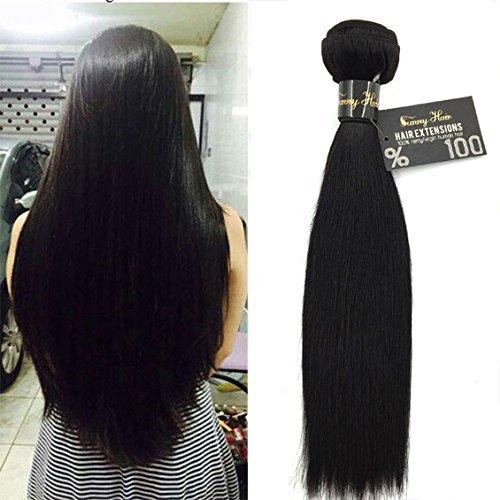 Sunny extension tessitura capelli umani lisci brasiliani #1b nero naturale grado 7a matassa capelli tessitura 65cm 100g/ciocche