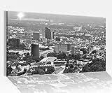 Acrylglasbilder 80x50cm schwarz weiss Skyline Dortmund Stadt Acryl Acrylbild Acrylglas Wand Bild 14?8121, Acrylglas Größe4:80cmx50cm