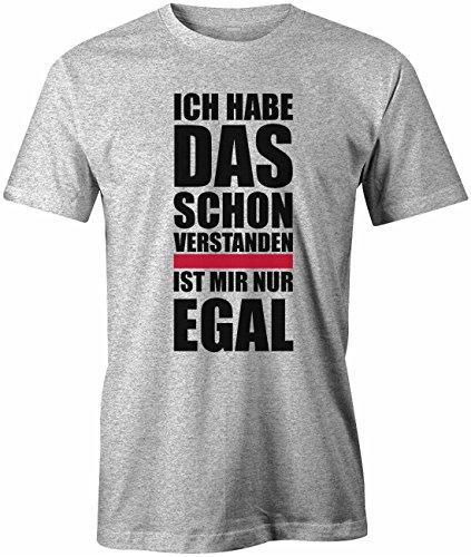 Ich habe das schon verstanden - is mir egal - Herren T-Shirt in Grau Meliert by Jayess Gr. XXL