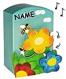 Unbekannt hochwretige Holz Spieluhr -  Bienen mit Summ Summ Summ  - Melody - incl. Name - magisch drehende Musikspieluhr Musikdose Musikbox Spieldose Kinder / Mädchen..