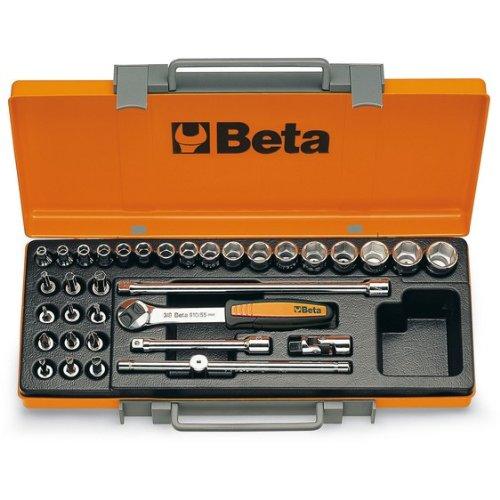 Beta 900/C29 29 pièces douilles, douilles pilotes, barres d'extension, poignée en T et clé à cliquet réversible Assortiment en cas