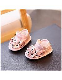 Wuyulunbi@ Zapatos De Niñas Polipiel Otoño Invierno Confort Flower Girl Zapatos Botas Para Los Eventuales Rubor Rosa De Oro Negro,Rosa,Us6 / Ue22 / Uk5 Toddle