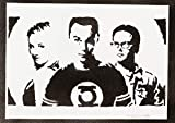 The Big Bang Theory Sheldon Penny Und Leonard Handmade Street Art - Artwork - Poster