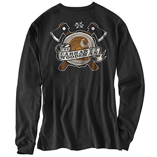 Carhartt Woodsman Langarm T-Shirt | Schwarz | Gr. XS