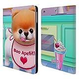 Head Case Designs Offizielle Boo-The World's Cutest Dog Boo Appetit! Charakter Kunst Brieftasche Handyhülle aus Leder für iPad Air (2013)