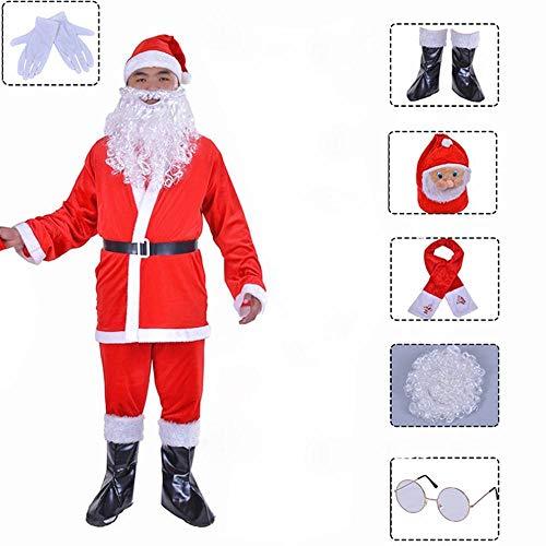 Weihnachten Kleidung Erwachsene Männer Und Frauen Mann Verkleiden Sich Cos Show Kleidung Gold Samt Verdickung Santa Claus ()