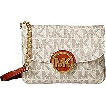 Michael Kors Fulton MK Signature Leather Crossbody Bag