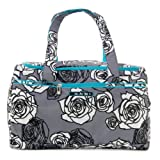 Ju-Ju-Be Starlet Medium Travel Duffel Bag, Charcoal Roses