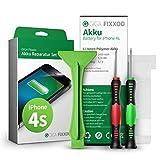 GIGA Fixxoo iPhone 4s Lithium-Ionen Akku Austausch-Set mit Bildanleitung zum Selbermachen; Komplettes Werkzeug Set zur Schnellen & Einfachen Reparatur