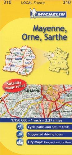 Mayenne, Orne, Sarthe Michelin Local Map 310 (Michelin Local Maps)