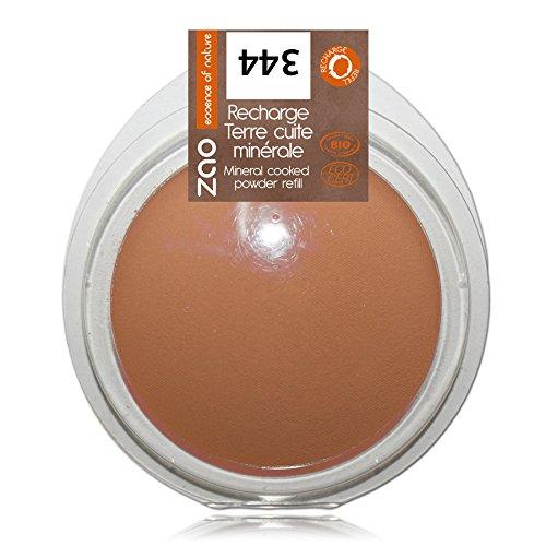 ZAO REFILL Mineral Cooked Powder 344 schokolade matt Bronzer-Nachfüller (Bräunungspuder oder als Kompaktpuder) (b4io, Ecocert, Cosmebio, Naturkosmetik) - Mineral Essence Make-up