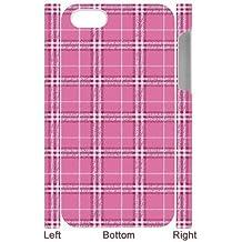 3D {Tartan Series} IPhone 4/4s Cases all Pink Tartan, Case Binocara - White