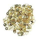 TOYMYTOY Small Triangle D-Ring Single Hole Picture Frame Hangers Holders with Screws - 100pcs