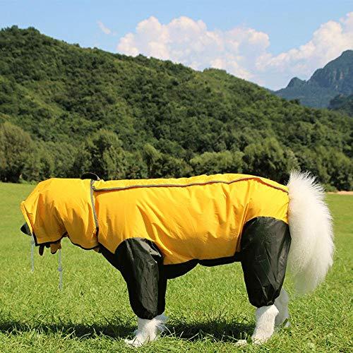 Kostüm Husky Hunde - Gulunmun Regenjacken für Hunde Haustier Großer Hund Regenmantel Für Kleine Große Hunde Husky Labradorwasserdichte HundekleidungRegenmantelJacke Kostüme Kleidung @ XL