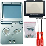 iMinker Full Gehäuse Shell Pack Case Cover Ersatzteile mit offenen Tools für Nintendo Gameboy Advance SP, GBA SP (Hellblau)