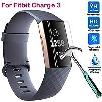 Cooljun [5 Pack] Fitbit Charge 3 Panzerglas Schutzfolie, HD Ultradünn 9H Härte Schutzfilm TPU Volldeckung Displayschutzfolie [Anti-Kratzen] [Bubble-frei][Fingerabdruck-frei] Folie