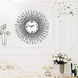 HONGYUANZHANG Wohnzimmer Wohnzimmer Wanduhr Uhr Silent Clock Dekorative Anhänger Watch Schlafzimmer Wecker (60 X 60 cm) Weiß