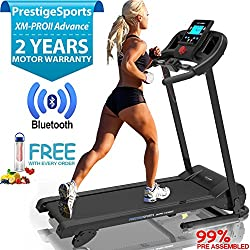 XM-PRO II Advance Bluetooth TREADMILL - NEW 2018 Model Motorised Running Machine,Soft Drop Folding,10KPH, 3 Level Manual Incline, 16 Programs