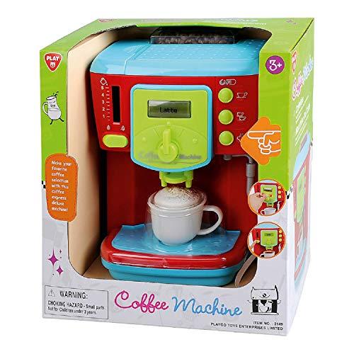 Bavaria-Home-Style-Collection Deluxe Kinder Kaffeemaschine - Küchengerät - mit Licht und Sound - für Spielküche Zubehör - Geschenkidee Geburtstag , Ostern , Weihnachten - ab 3 Jahre -