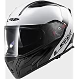LS2FF324Metro rápido blanco negro casco de moto