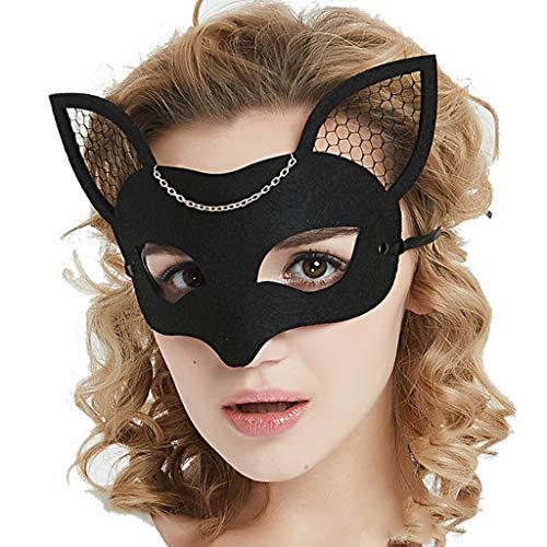 Halbe Gesichtsmaske Fuchs, Halloween Party Party Tier Maske Cosplay Requisiten (Fuchs)