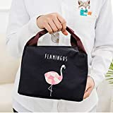 Pinkdose® Black: Bonamie Flamingo Waterproof Small Zipper Lunch Bag Thermal Food Picnic Warm Cool Keeper Cooler Lunch Bag for Women Kids Men Amazon Rs. 1446.00