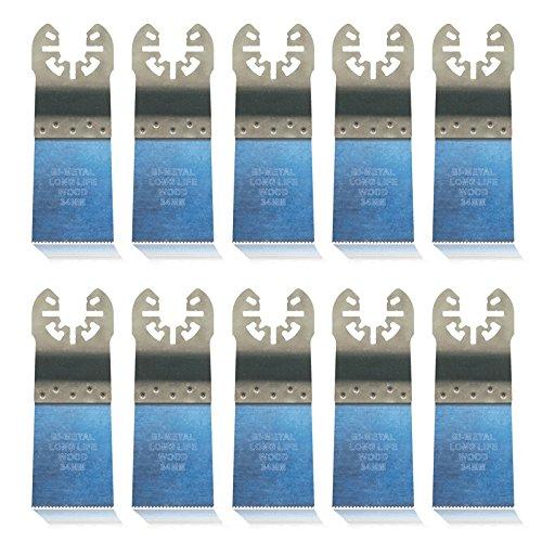 10 x e de scie Cut de bois, 34 mm extra long life Bi métal pour Black + Decker Outil multifonction
