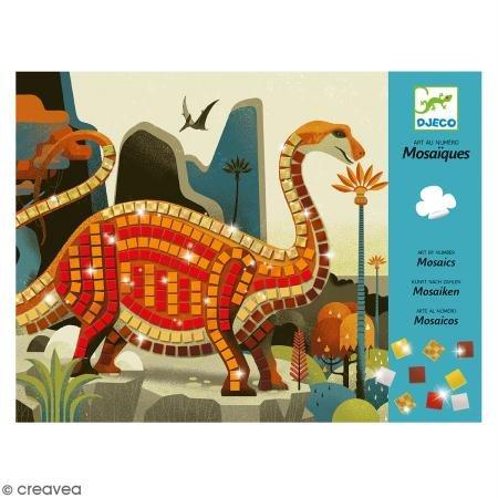 Djeco Kreativ Set Mosaikbilder Dinosaurier (Jungs Geschenke 4)